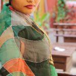 Pañuelos de seda color Durga Azul