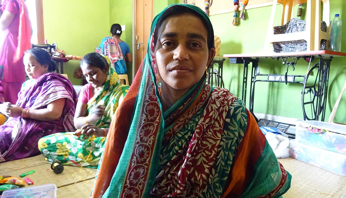 Beneficiaria de los proyectos de empoderamiento de la mujer de la ONG Semilla para el Cambio