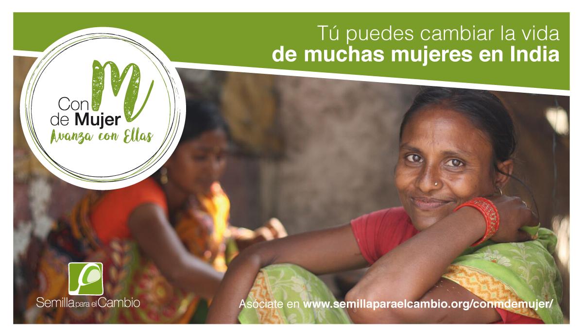 Campaña Con M de Mujer de la ONG Semilla para el Cambio