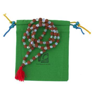 Mala de rudraksha regalo solidario de la ONG Semilla para el Cambio