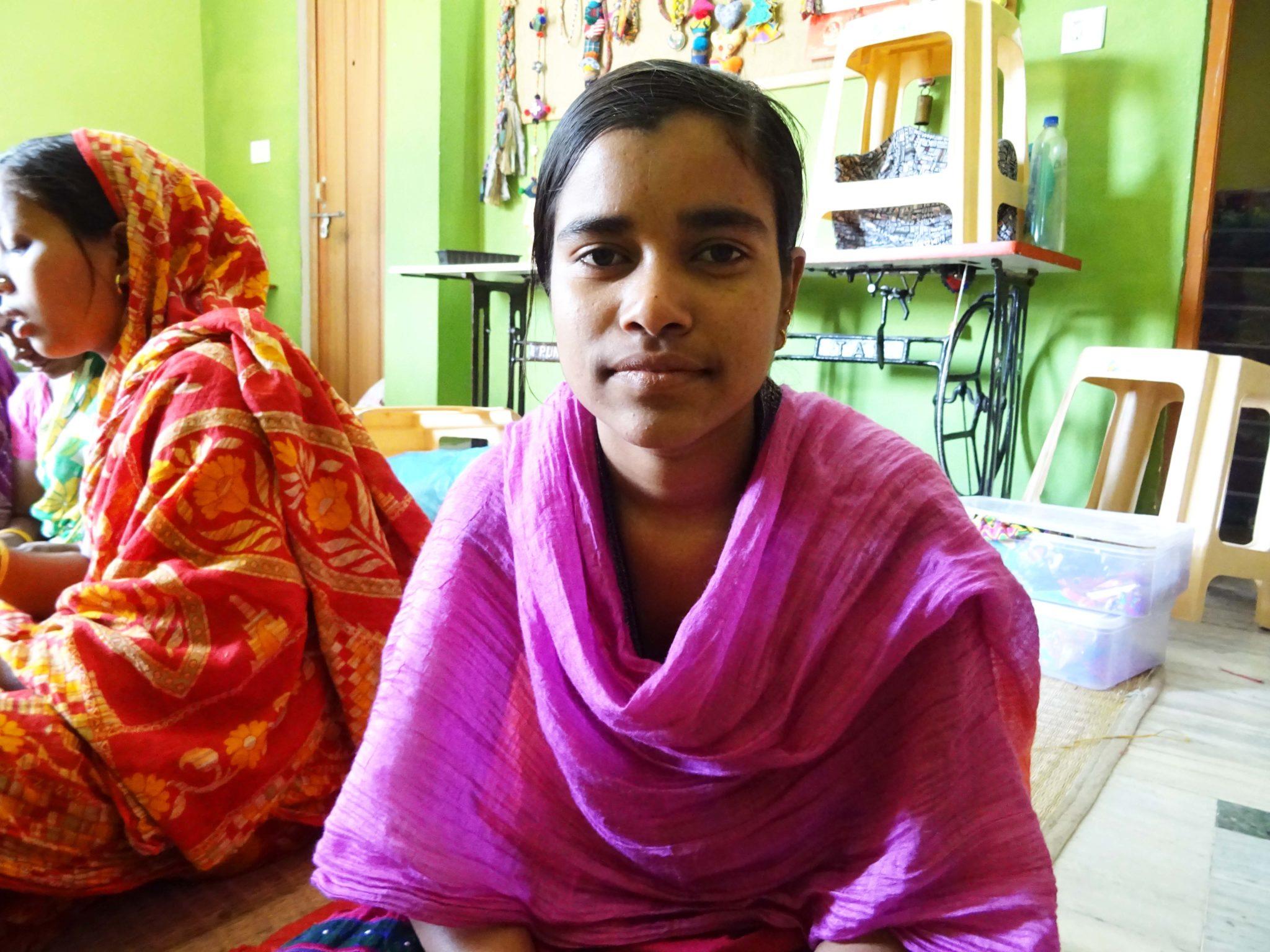 Beneficiaria del programa de empoderamiento de la mujer de Semilla para el cambio