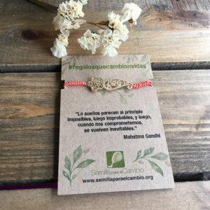 Pulsera macramé - regalos solidarios - Semilla para el Cambio