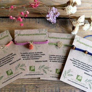 pulseras macramé - regalos solidarios - Semilla para el Cambio
