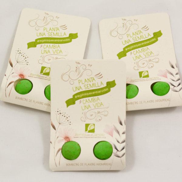 Semillas de plantas aromáticas como regalo solidario