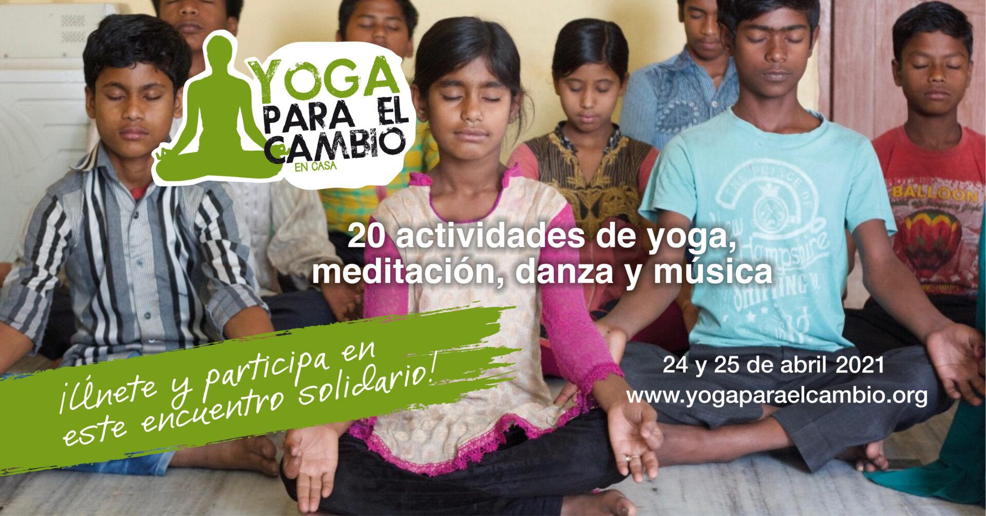 Banner Yoga para el Cambio En Casa
